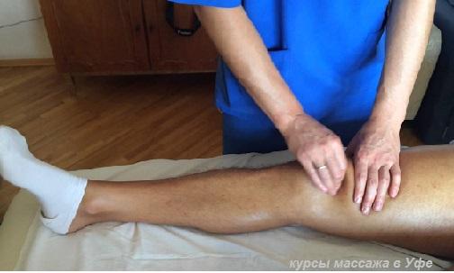Как сделать массаж колена